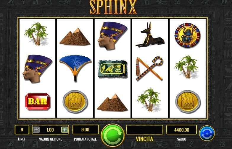 I simboli della slot online Sphinx