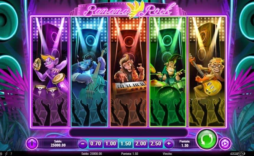 I simboli della slot online Banana Rock
