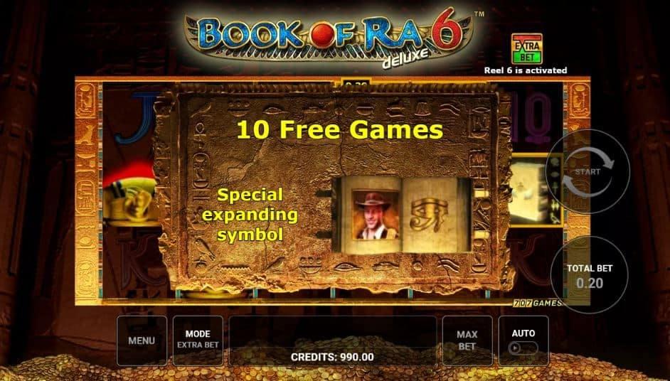 Oltre al gioco normale, a Book of Ra 6 Deluxe hai la possibilità di vincere delle partite bonus