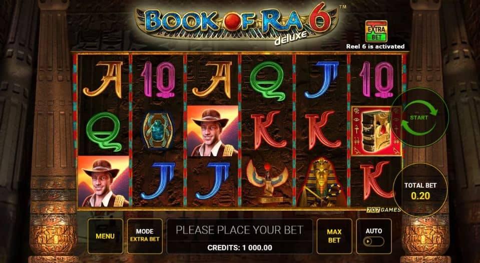 I simboli della slot online Book of Ra 6 Deluxe