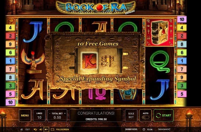 Oltre al gioco normale, a Book of Ra Deluxe hai la possibilità di vincere delle partite bonus