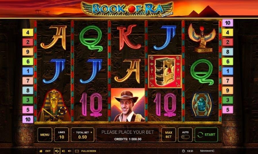 I simboli della slot online Book of Ra