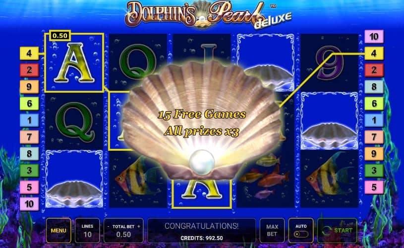 Oltre al gioco normale, a Dolphins Pearl Deluxe hai la possibilità di vincere delle partite bonus