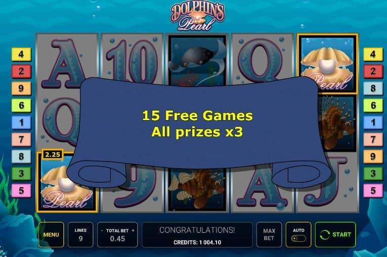 Oltre al gioco normale, a Dolphins Pearl hai la possibilità di vincere delle partite bonus