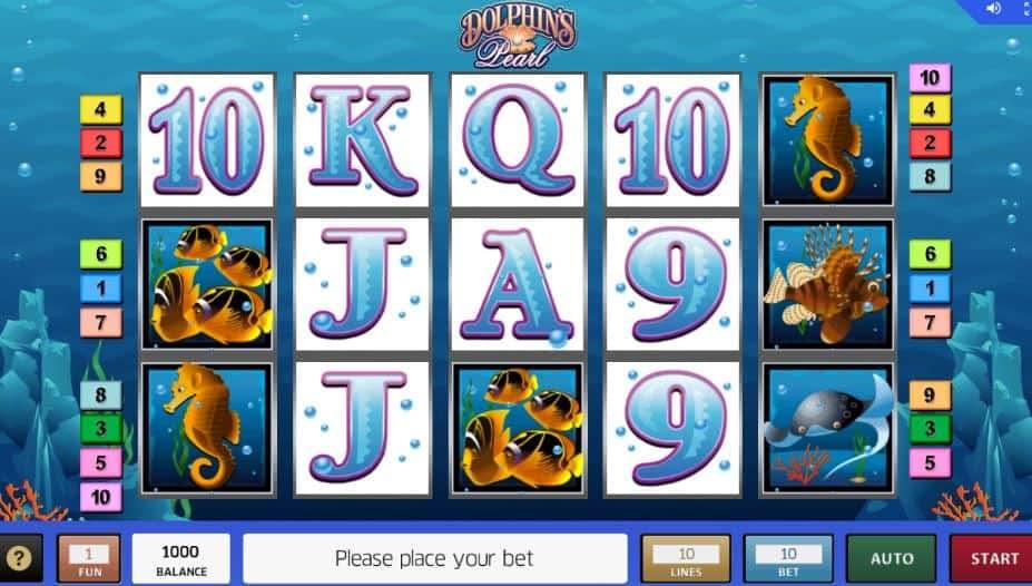 I simboli della slot online Dolphins Pearl