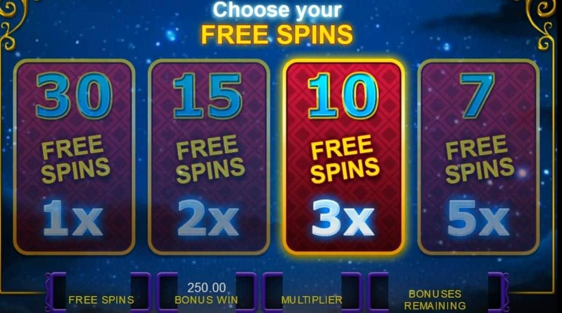 Oltre al gioco normale, a Gypsy Moon hai la possibilità di vincere delle partite bonus