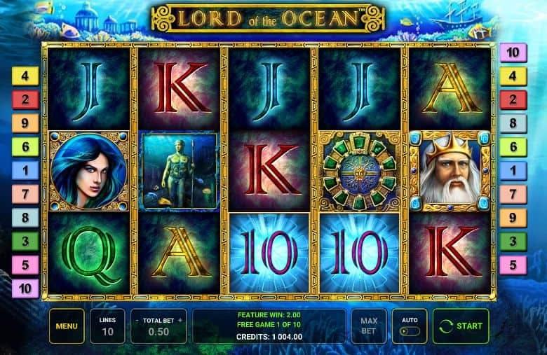 Oltre al gioco normale, a Lord of the Ocean hai la possibilità di vincere delle partite bonus