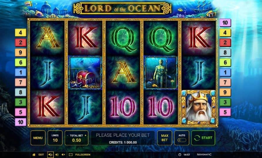 I simboli della slot online Lord of the Ocean