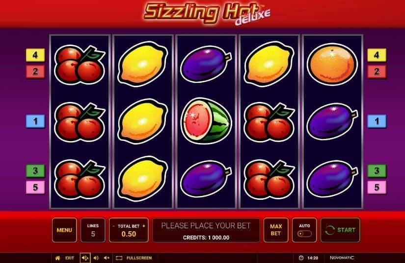 I simboli della slot online Sizzling Hot Deluxe