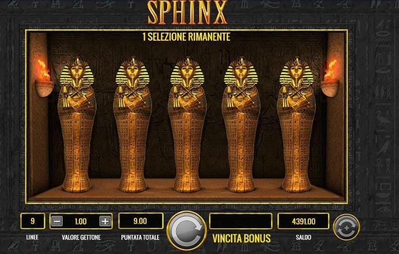 Oltre al gioco normale, a Sphinx hai la possibilità di vincere delle partite bonus