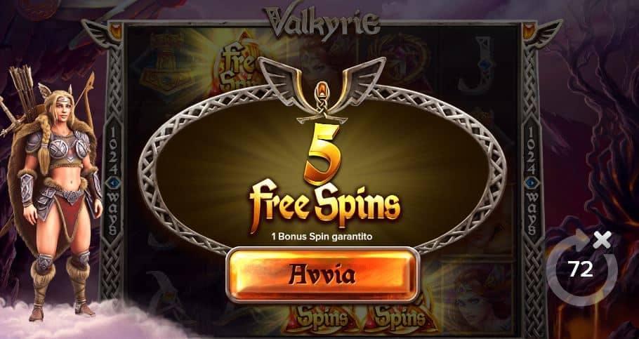 Oltre al gioco normale, a Valkyrie hai la possibilità di vincere delle partite bonus