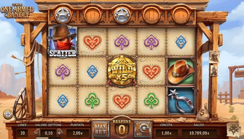 Oltre al gioco normale, a The One Armed Bandit hai la possibilità di vincere delle partite bonus