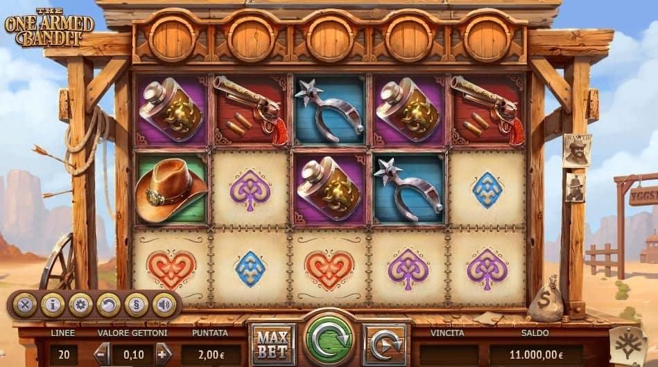 I simboli della slot online The One Armed Bandit