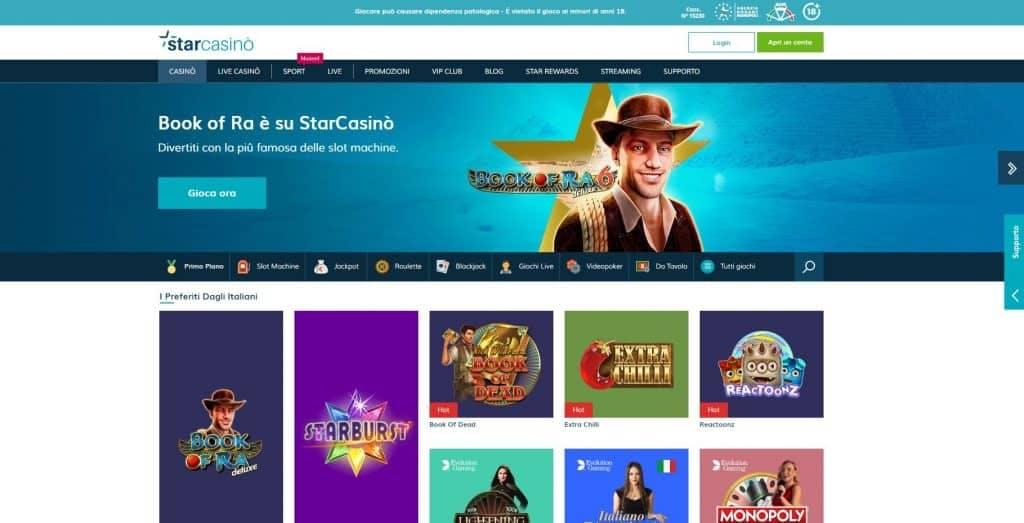 Slot machines su Starcasino