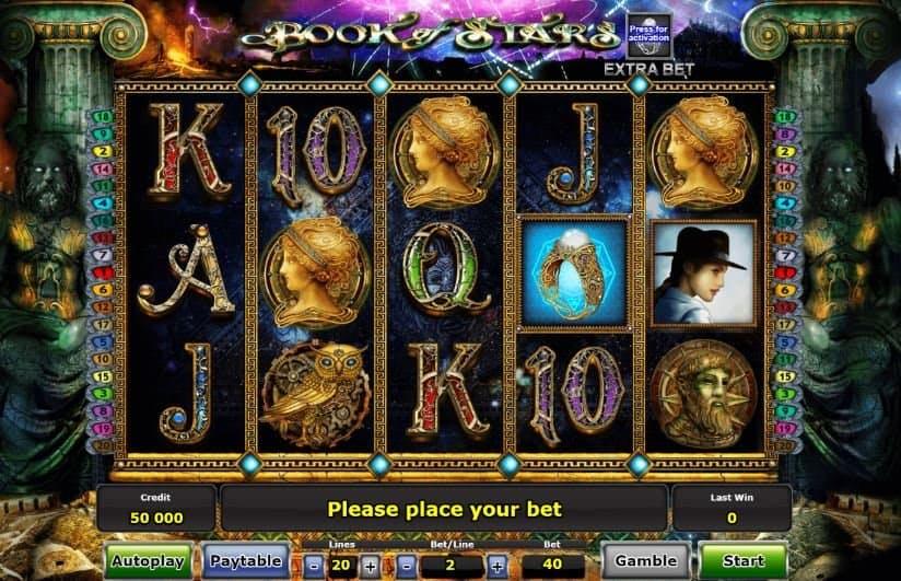 I simboli della slot online Book of Stars