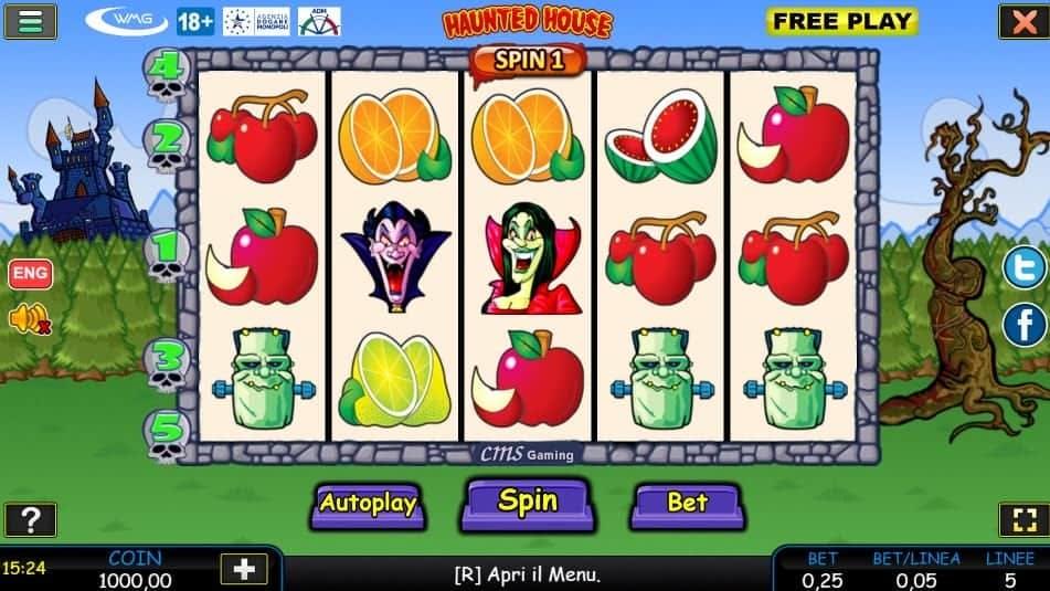 I simboli della slot online Haunted House