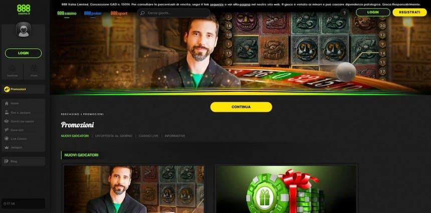Bonus e Promozioni di 888 Casino