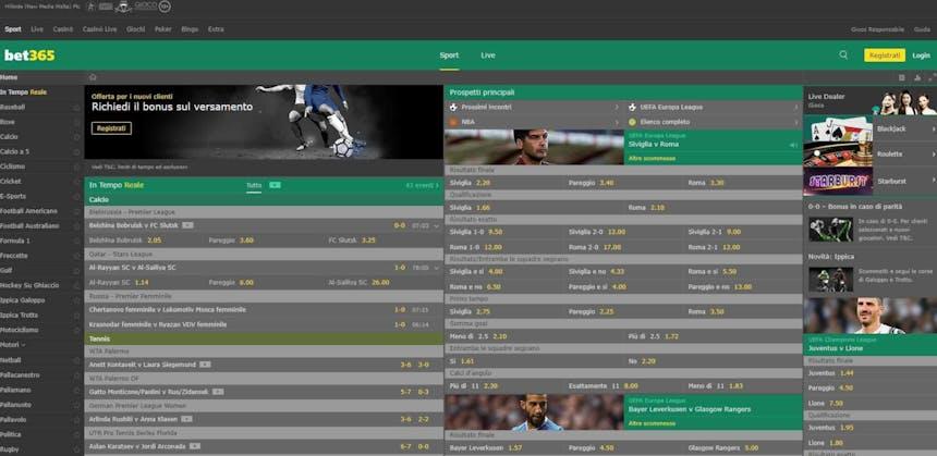 Prova le scommesse sportive online di bet365