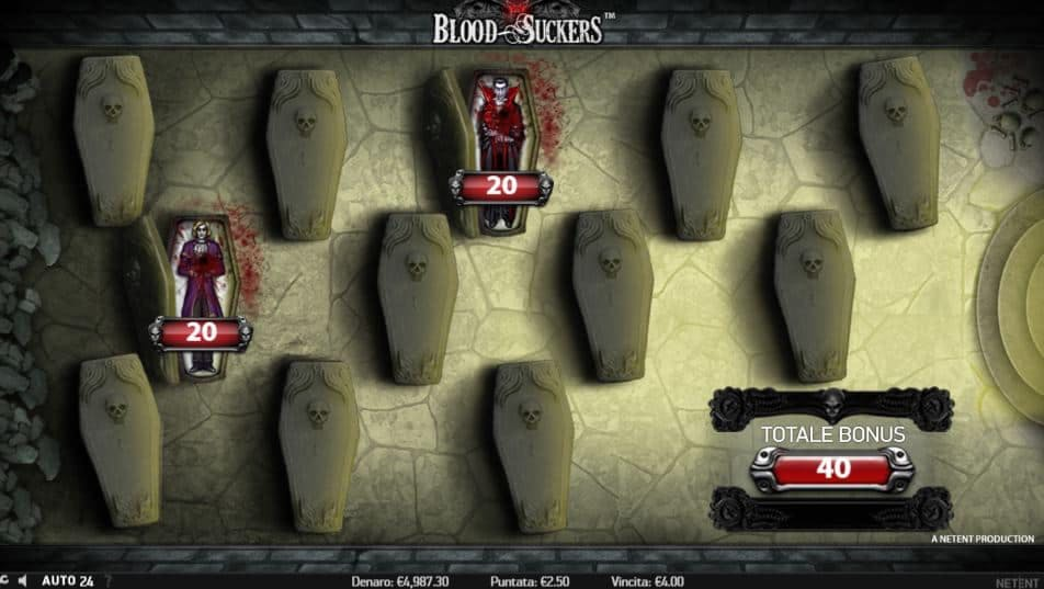 Oltre al gioco normale, a Blood Suckers hai la possibilità di vincere delle partite bonus