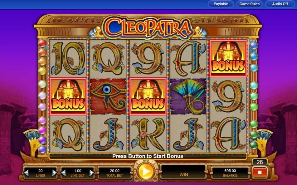 Oltre al gioco normale, a Cleopatra hai la possibilità di vincere delle partite bonus