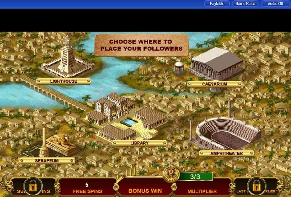 Oltre al gioco normale, a Cleopatra Plus hai la possibilità di vincere delle partite bonus