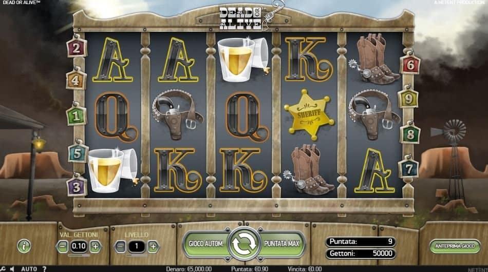I simboli della slot online Dead or Alive