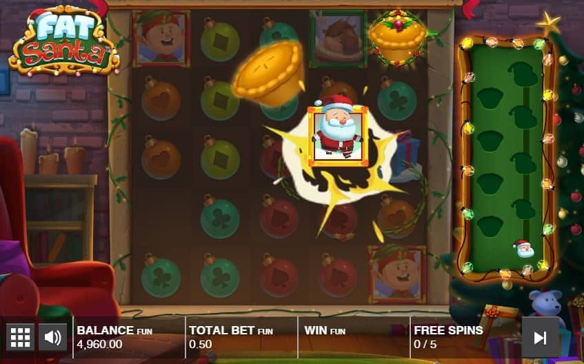 Oltre al gioco normale, a Fat Santa hai la possibilità di vincere delle partite bonus