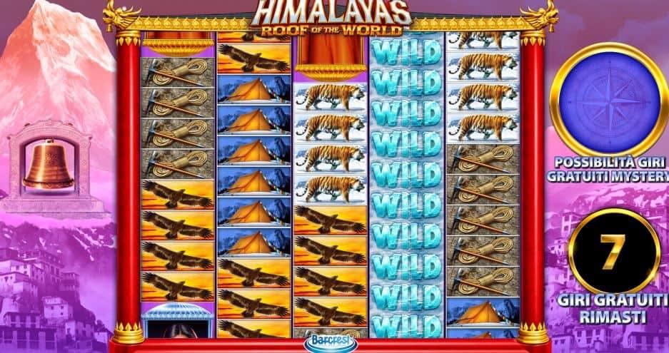 Oltre al gioco normale, a Himalayas Roof of The World hai la possibilità di vincere delle partite bonus
