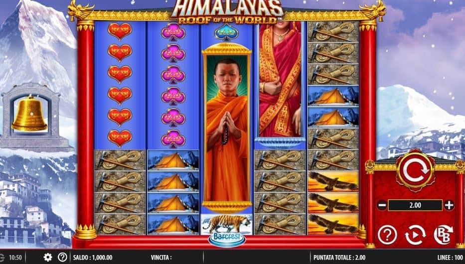 I simboli della slot online Himalayas Roof of The World