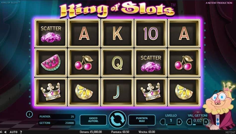 I simboli della slot online King of Slots