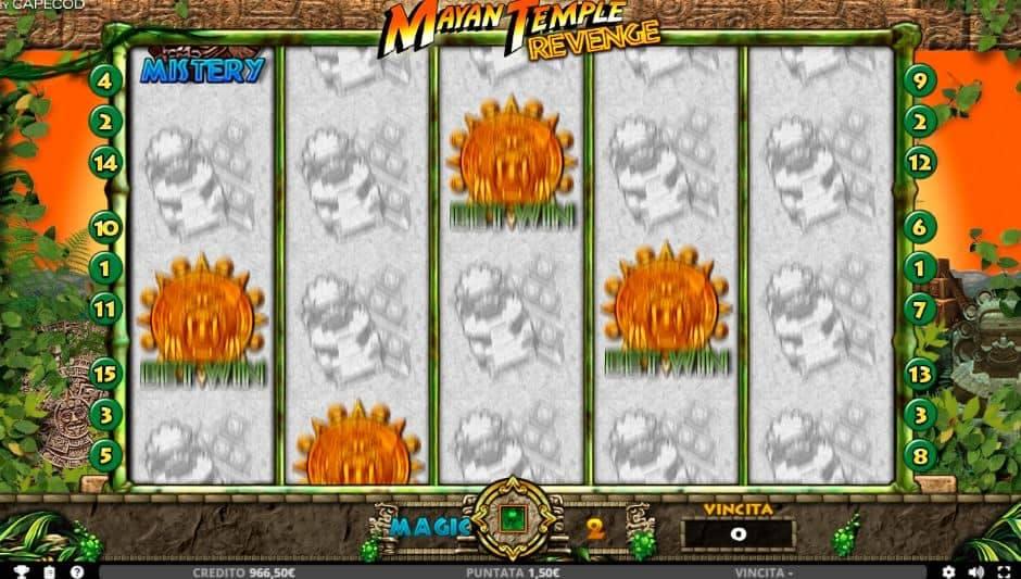 Oltre al gioco normale, a Mayan Temple Revenge hai la possibilità di vincere delle partite bonus