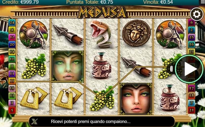 I simboli della slot online Medusa