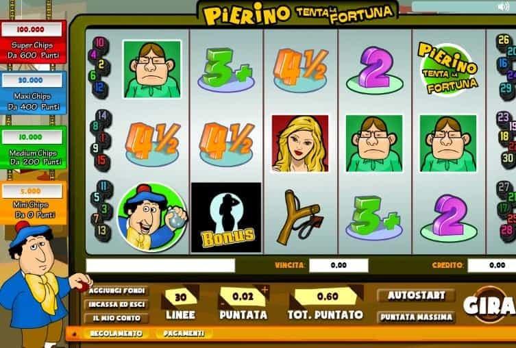 I simboli della slot online Pierino Tenta la Fortuna