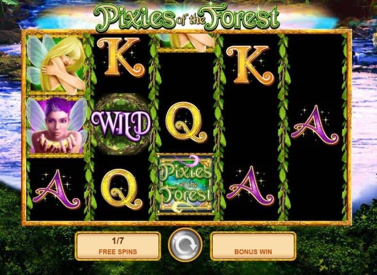 Oltre al gioco normale, a Pixies of the Forest hai la possibilità di vincere delle partite bonus