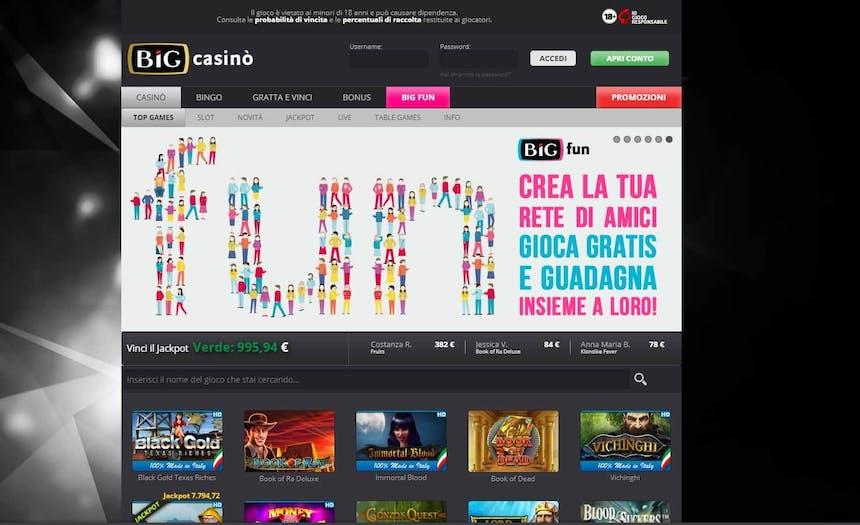 Slot machines su Big Casino