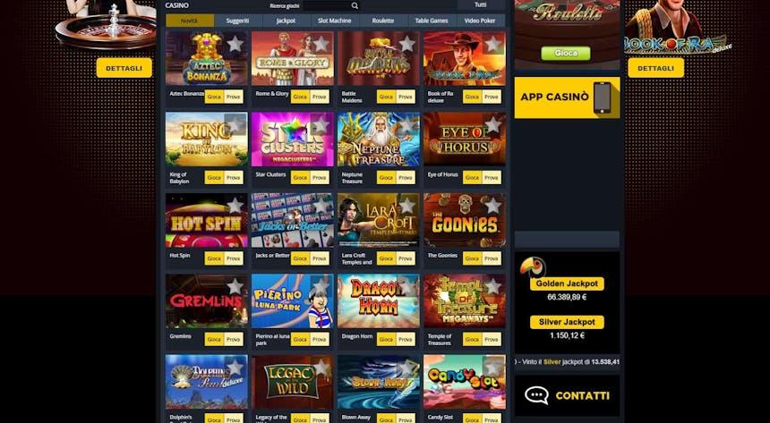 Slot machines su Goldbet