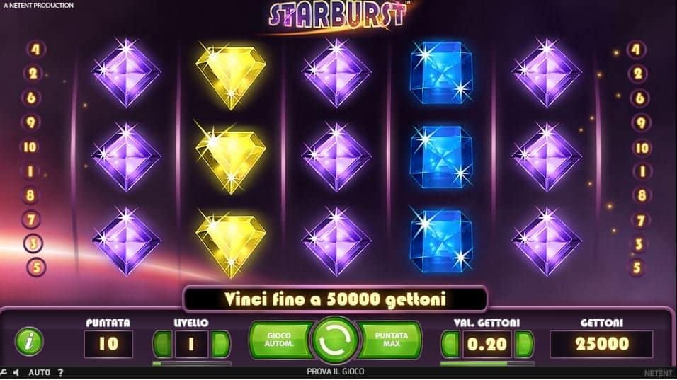 I simboli della slot online Starburst