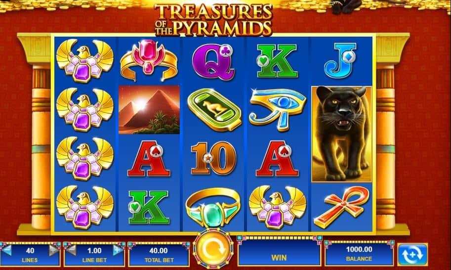 I simboli della slot online Treasures of the Pyramids