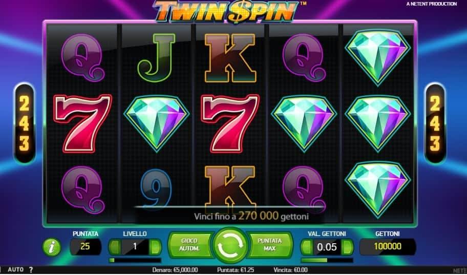 I simboli della slot online Twin Spin