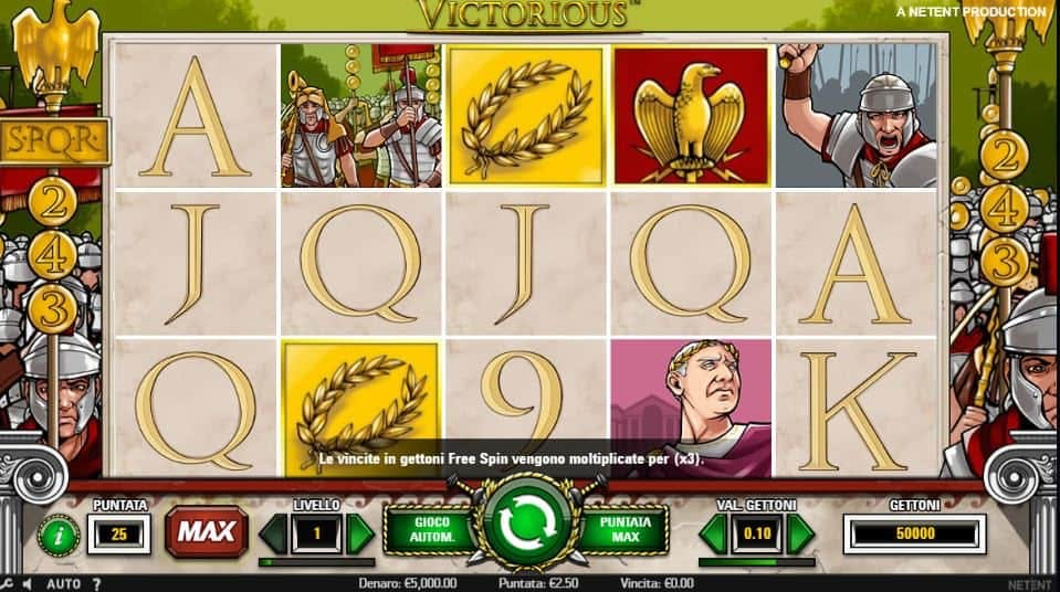 I simboli della slot online Victorious