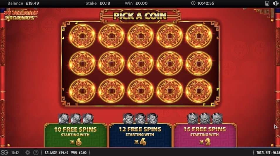 Oltre al gioco normale, a 88 Fortunes Megaways hai la possibilità di vincere delle partite bonus