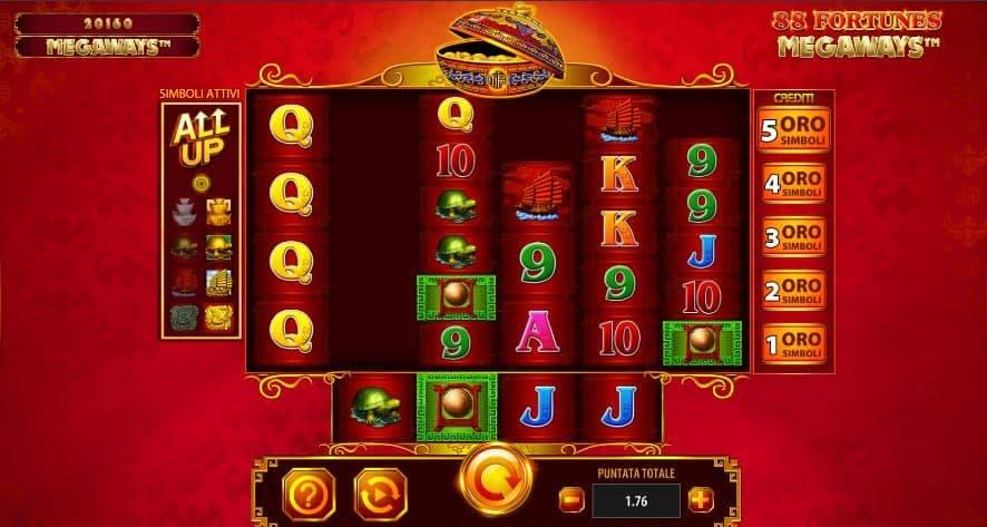 I simboli della slot online 88 Fortunes Megaways
