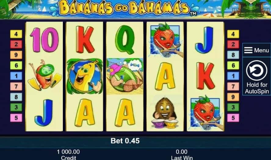 I simboli della slot online Bananas Go Bahamas