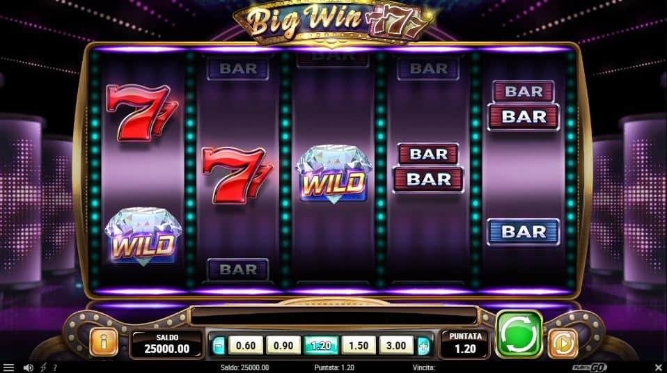I simboli della slot online Big Win 777