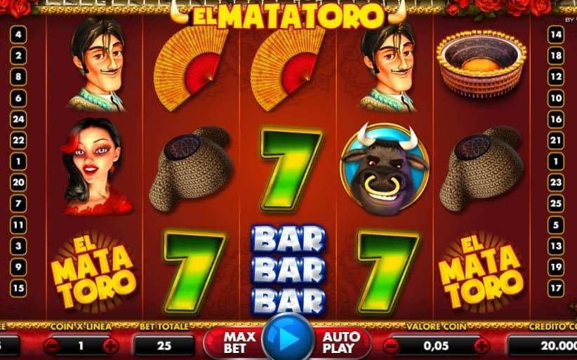I simboli della slot online El Mata Toro