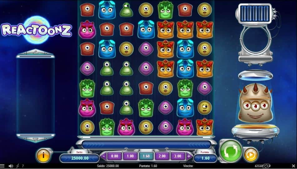 I simboli della slot online Reactoonz