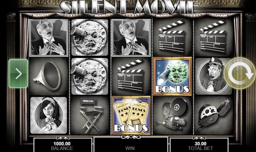 I simboli della slot online Silent Movie