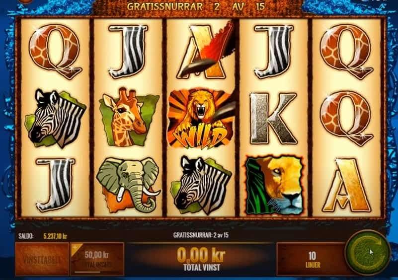 Oltre al gioco normale, a the wild life hai la possibilità di vincere delle partite bonus