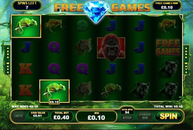 Oltre al gioco normale, a Epic Ape hai la possibilità di vincere delle partite bonus