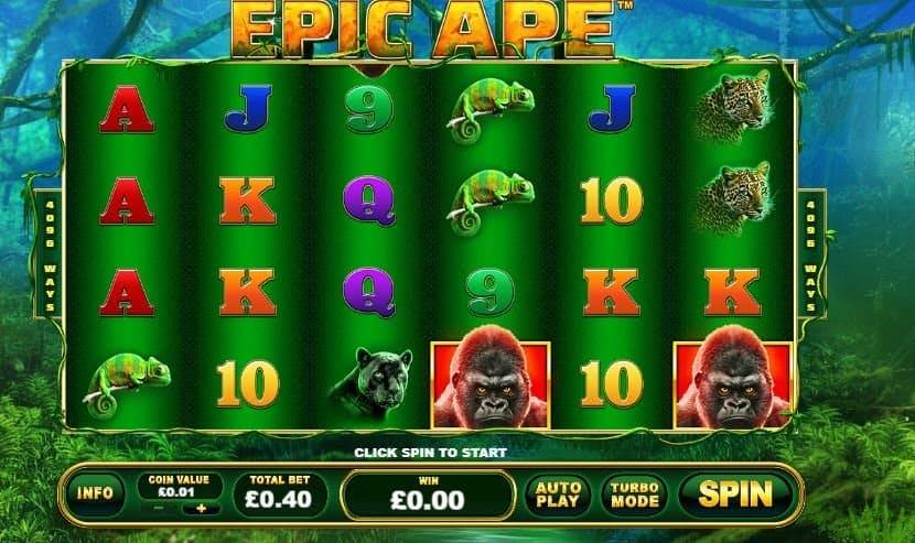 I simboli della slot online Epic Ape